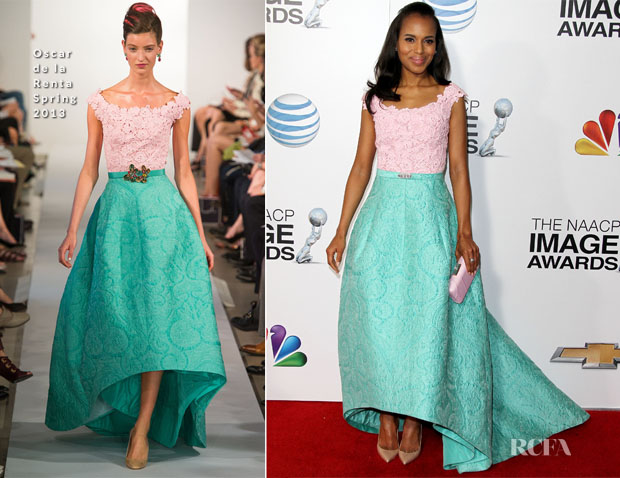 Kerry Washington In Oscar de la Renta - 2013 NAACP Image Awards