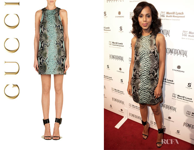 Kerry Washington's Gucci Python Motif Tunic Dress