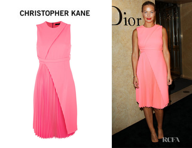 Lara Bingle's Christopher Kane Pleated Hem Dress