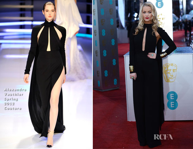Laura Whitmore In Alexandre Vauthier Couture - 2013 BAFTA Awards