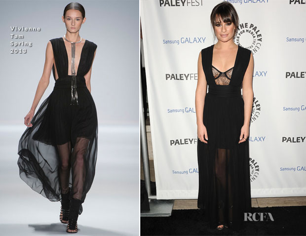 Lea Michele In Vivienne Tam - PaleyFest Icon Award 2013