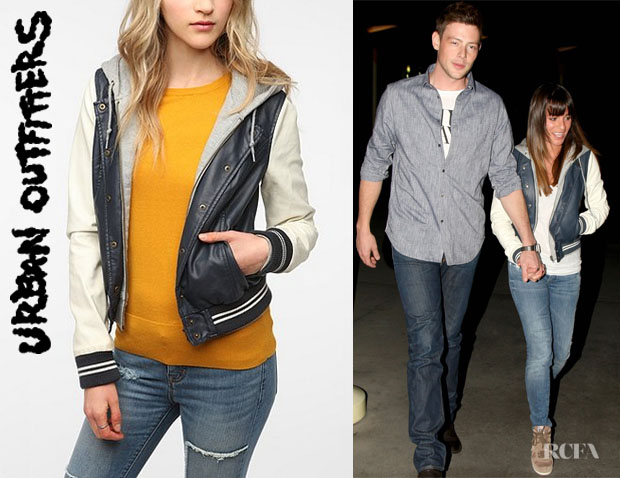 Lea Michele's Urban Outfitters 'Obey Varsity Lover' Jacket
