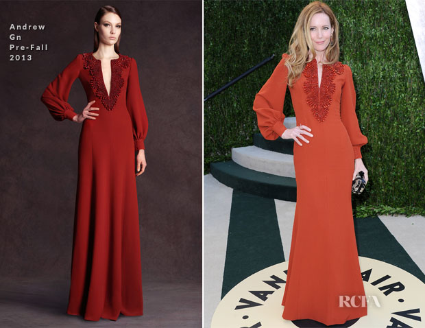 Leslie Mann In Andrew Gn – 2013 Vanity Fair Party