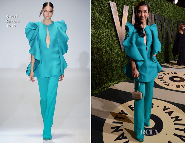 Li Bing Bing In Gucci -2013 Vanity Fair Party