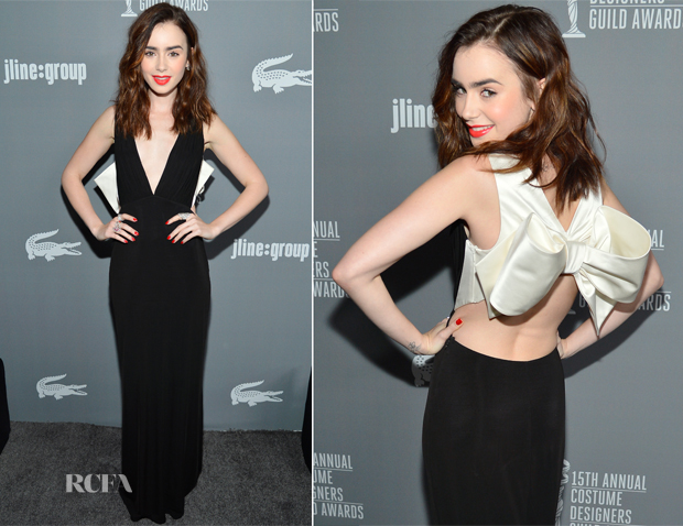 Lily Collins In Paule Ka - 15th Annual Costume Designers Guild Awards