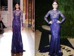Lily Collins In Zuhair Murad Couture - 2013 Vanity Fair Party