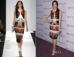 Louise Roe In BCBG Max Azria - BVLGARI Celebration of Elizabeth Taylor's collection of BVLGARI Jewelry