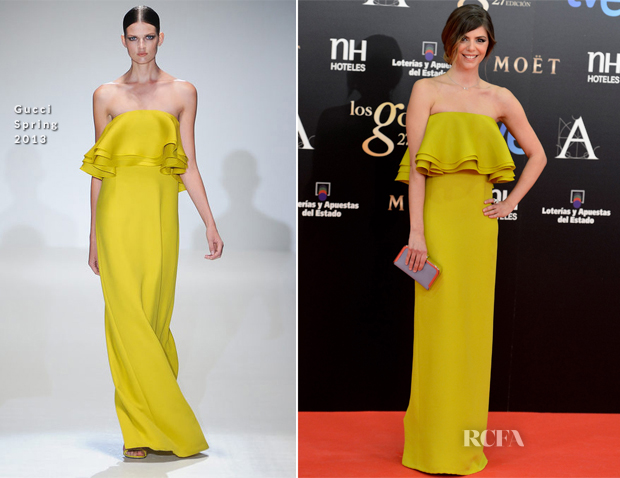 Manuela Velasco In Gucci - 2013 Goya Cinema Awards