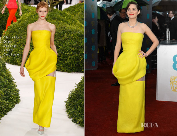 Marion Cotillard In Christian Dior Couture - 2013 BAFTA Awards
