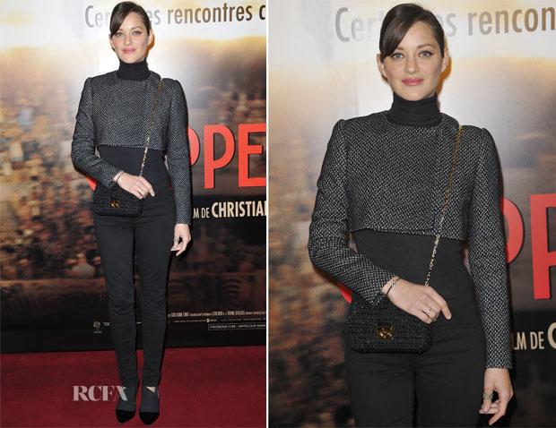Marion Cotillard In Christian Dior - Jappeloup' Paris Premiere