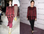 Marisa Tomei In Roksanda Ilincic - BVLGARI Celebration of Elizabeth Taylor's collection of BVLGARI Jewelry