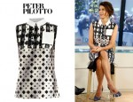 Marisa Tomei's Peter Pilotto 'Michon' Geometric Dotty Print Shirt And Peter Pilotto 'Michon' Geometric Skirt