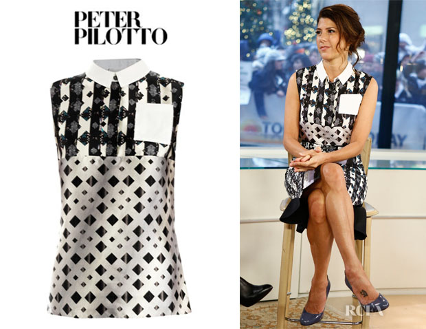 Marisa Tomei's Peter Pilotto 'Michon' Geometric Dotty Print Shirt