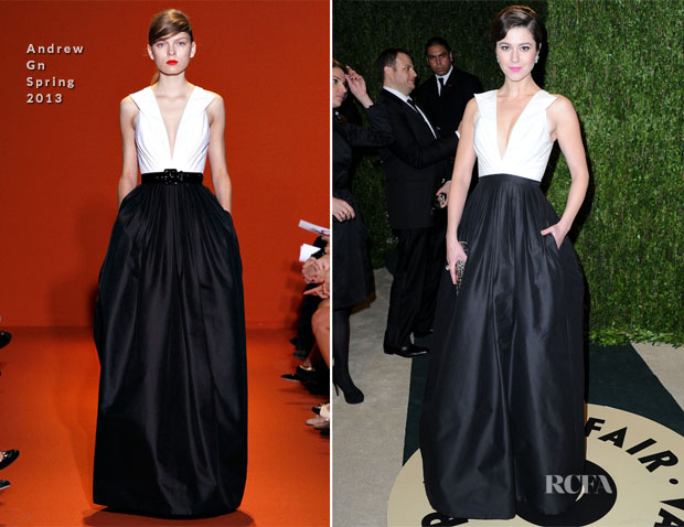 Mary Elizabeth Winstead In Andrew Gn - 2013 Vanity Fair party