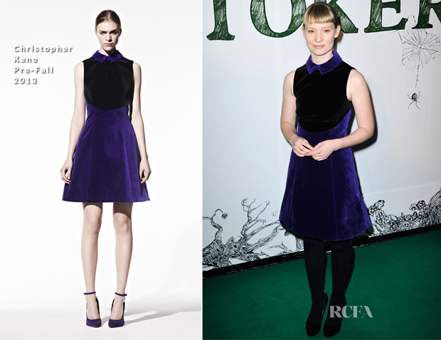 Mia Wasikowska In Christopher Kane - 'Stoker' London Screening