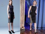 Mia Wasikowska In Elie Saab - Late Night with Jimmy Fallon