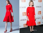 Mia Wasikowska In Elie Saab - 'Stoker' New York Screening