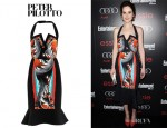 Michelle Dockery's Peter Pilotto 'Victoria' Printed Panel Dress