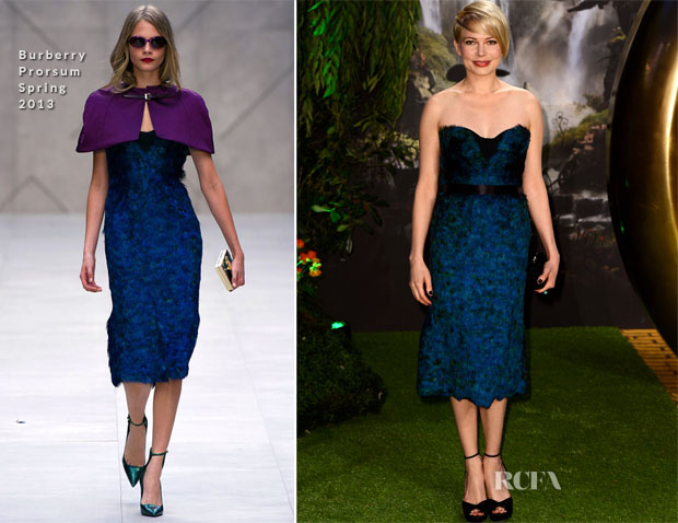 Michelle Williams In Burberry Prorsum - 'Oz The Great And Powerful' London Premiere