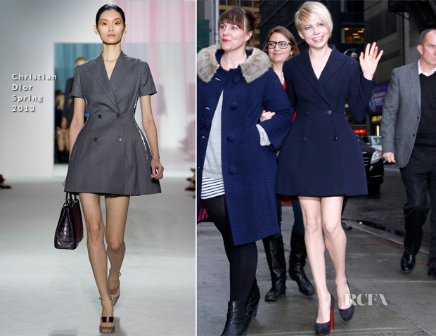 Michelle Williams In Christian Dior - Late Night with David Letterman