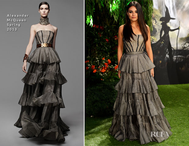 Mila Kunis In Alexander McQueen - 'Oz The Great And Powerful' London Premiere