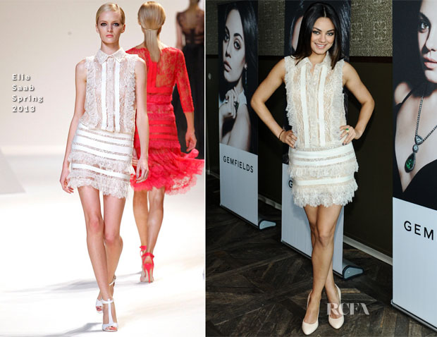 Mila Kunis In Elie Saab - Gemfields and W Magazine Brand Ambassador Launch Event
