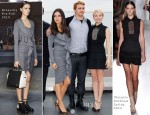 Mila Kunis In Givenchy & Michelle Williams In Victoria Beckham - 'Oz The Great And Powerful' Moscow Photocall