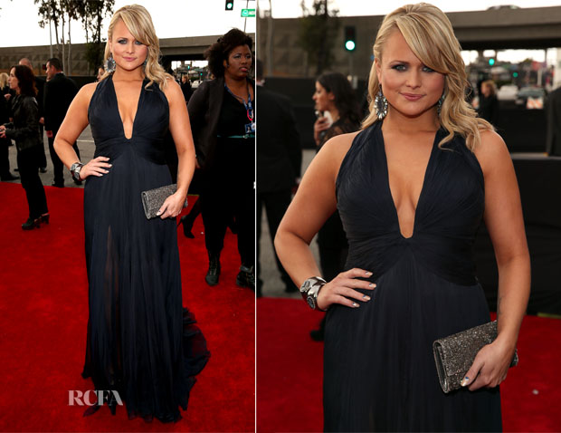 Miranda Lambert In Roberto Cavalli - 2013 Grammy Awards
