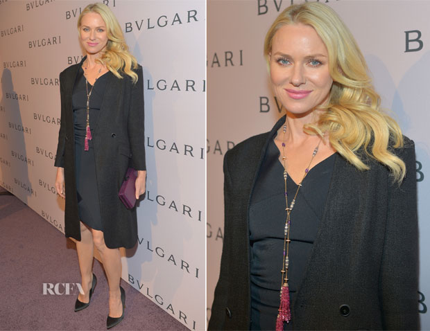 Naomi Watts In Roland Mouret - BVLGARI Celebration of Elizabeth Taylor's collection of BVLGARI Jewelry