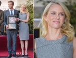 Naomi Watts In Roland Mouret - Hollywood Walk of Fame Unveiling