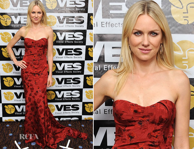 Naomi Watts In Zac Posen - 11th Annual Visual Effects Society Awards