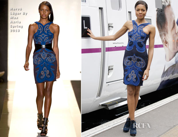 Naomie Harris In Hervé Léger By Max Azria - 'Skyfall' Train Unvieling