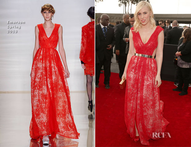 Natasha Bedingfield In Emerson - 2013 Grammy Awards