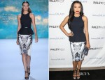 Naya Rivera In Monique Lhuillier - PaleyFest Icon Award 2013