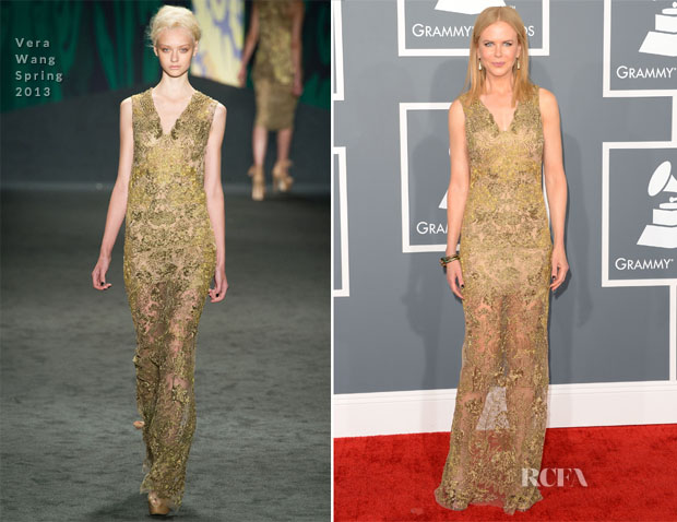 Nicole Kidman In Vera Wang S13 -2013 Grammys