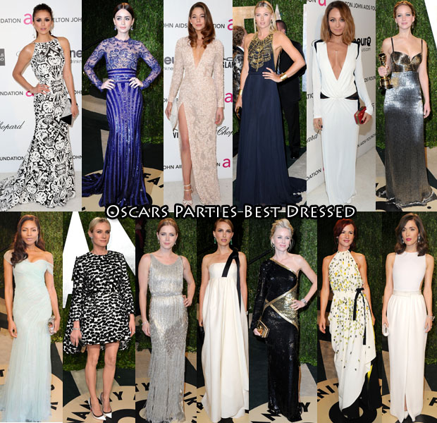 Oscars Parties Best Dressed