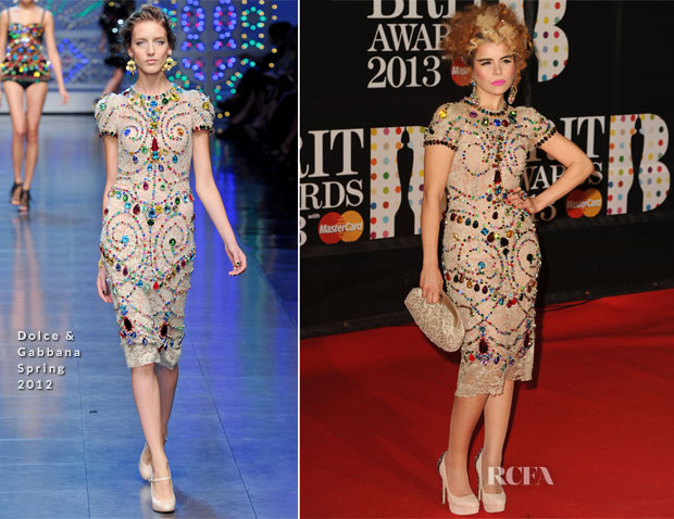 Paloma Faith In Dolce & Gabbana - 2013 Brit Awards