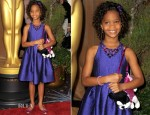 Quvenzhane Wallis In David Meister - 85th Academy Awards Nominations Luncheon
