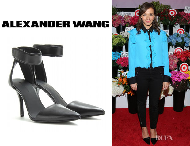 Rashida Jones' Alexander Wang 'Liya' Ankle Strap Pumps