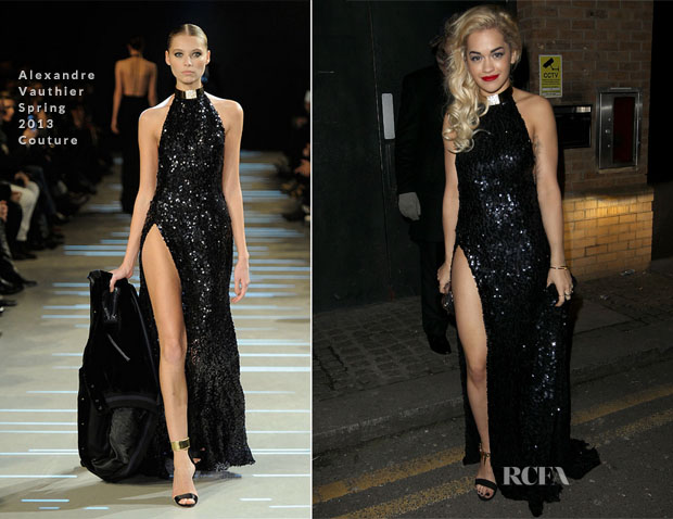Rita Ora In Alexandre Vauthier Couture - Brit Awards 2013 After-Parties