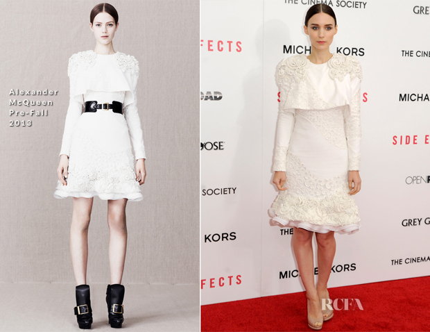 Rooney Mara In Alexander McQueen - 'Side Effects' New York Premiere