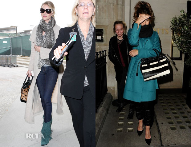 Rosie Huntington-Whiteley and Kate Beckinsale's Burberry Prorsum 'Crush' Bags