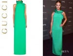 Rosie Huntington-Whiteley's Gucci Silk Gown