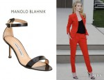 Rosie Huntington-Whiteley's Manolo Blahnik 'Chaos' Sandals