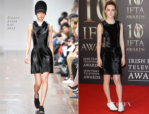 Saoirse Ronan In Simone Rocha - Irish Film And Television Awards