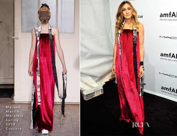 Sarah Jessica Parker In Maison Martin Margiela Couture - amfAR New York Gala To Kick Off Fall 2013 Fashion Week