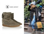 Sarah Jessica Parker's Isabel Marant 'Basley' Perforated Wedge Boots