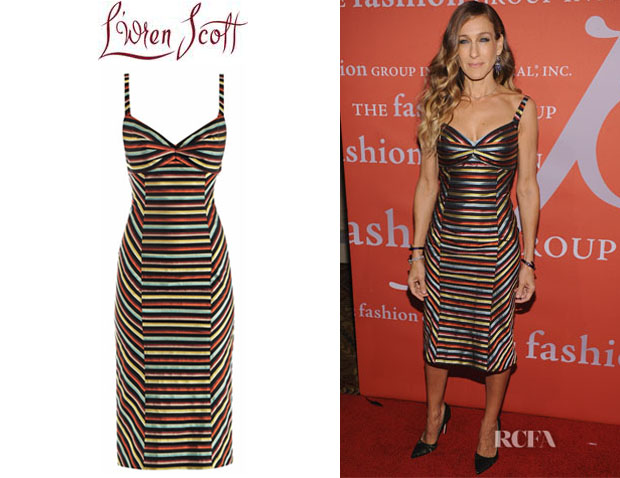 Sarah Jessica Parker's L'Wren Scott Multicolour Stripe Dress