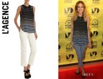 Sarah Jessica Parker's L'Agence Sleeveless Striped Blouse