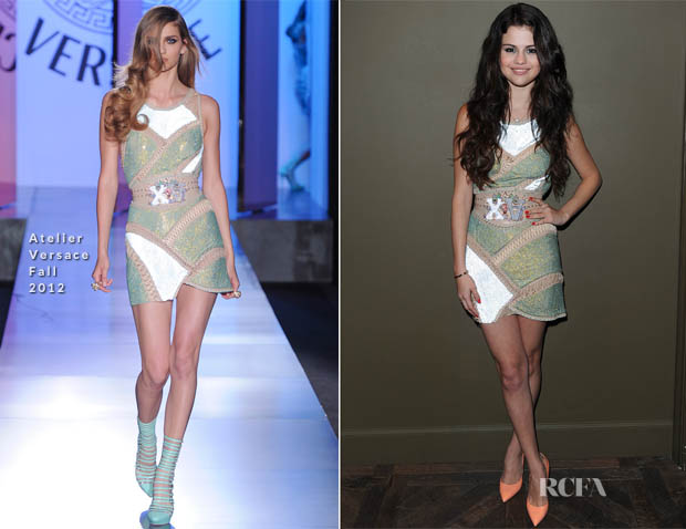 Selena Gomez In Atelier Versace - Nylon Magazine Cover Party